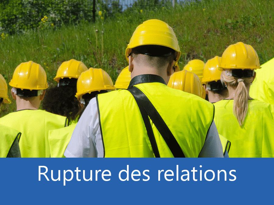 rupture des relation chantier 42, problème durant le chantier La Loire, stress chantier Saint-Etienne, problème durant le chantier Roanne,
